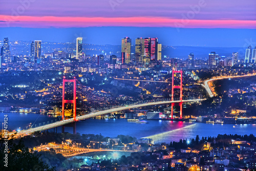 Fotografija Panoramic view of Istanbul with the Bosphorus Bridge