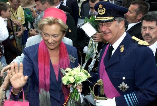 Belgiums queen paola and king albert ii greet people on after a te belgiums queen paola and king albert ii greet people on after a te deum at the m4hsunfo