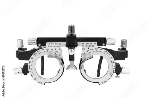 Fotografía  Closeup of eye test glasses