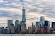 NYC Cityscape with One World Trade Center in Background