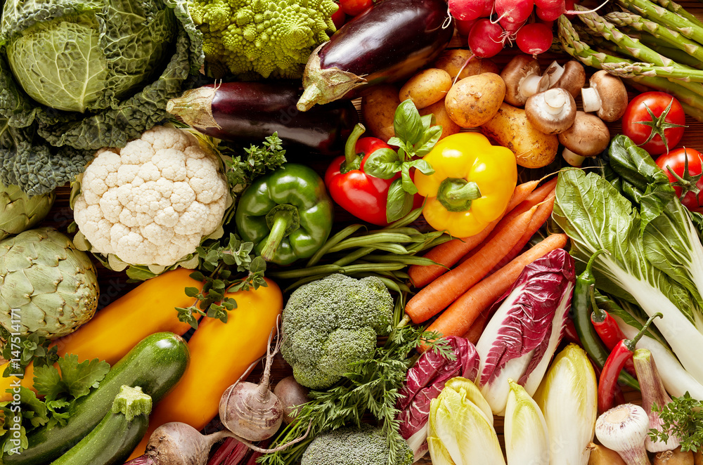 Fototapety, obrazy: Full frame of fresh vegetables