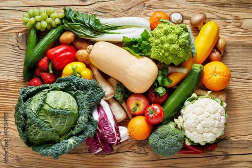 Fotobehang Fresh vegetables on table