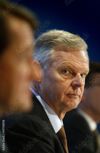 Gerard Kleisterlee, president and CEO of Philips, attends