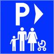 Leinwandbild Motiv Parking emplacement réservé famille