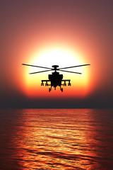 Fototapetahelicopter war