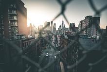 Sunset View Seen From Manhattan Bridge - New York
