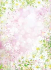 Obraz na płótnie Canvas Vector floral background.