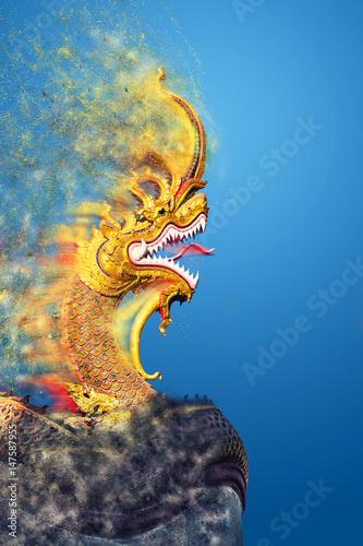 King of Nagas Canvas Print