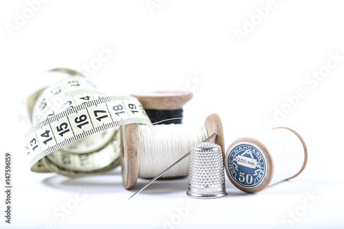 Photo Couture, fil, aiguille, bouton,