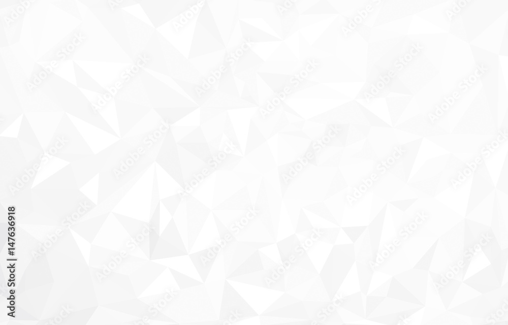 Fototapeta Vector abstract  white triangles background.