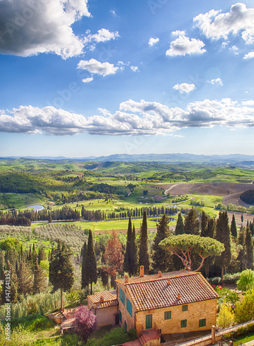 Carta da parati Golf Course, Tuscany, Castelfalfi