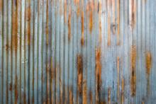 Rusty Corrugated Iron Siding Vintage Background