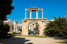 Hadrian's Gate, Athens Historical Center, Greece.
