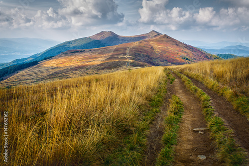 Obraz Bieszczady - mountains in Poland - fototapety do salonu