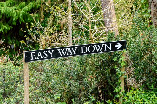 Photo Easy Way down Sign