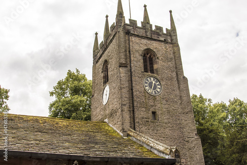 Photo St Christopher`s Church is in the small village of Pott Shrigley, Cheshire, England
