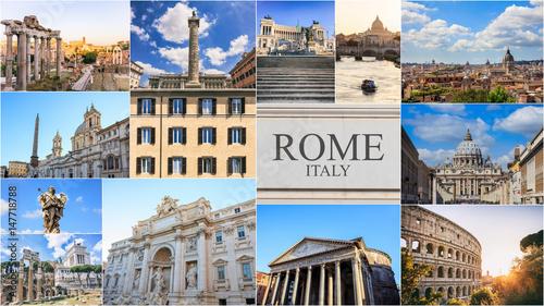 Obrazy na płótnie Canvas Rome, Italy - photo collage