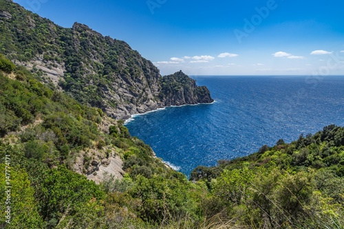 Tuinposter Liguria Beautiful bay called Cala dell'Oro near Portofino, Liguria, Italy