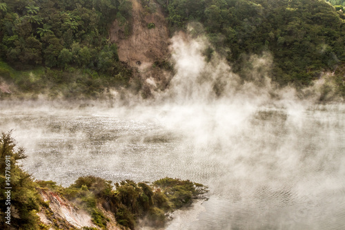 Printed kitchen splashbacks River geothermal valley waimangu near rotorua, new zealand