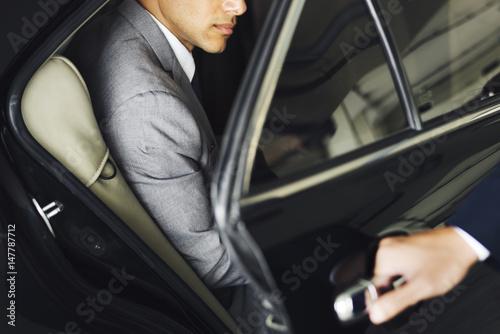 Photo  Hand Open Car Door Businessman