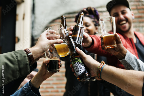 Craft Beer Booze Brew Alcohol Celebrate Refreshment Canvas Print