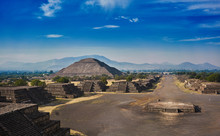 Teotihuacan Pyramids In Mexico