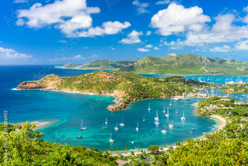 Antigua and Barbuda coastal landscape in the Caribbean.