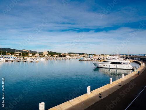Boats in mediterranean port