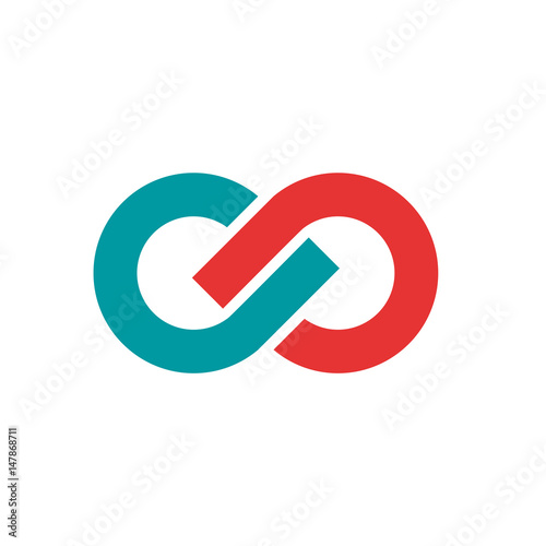 Fototapeta  Vector sign infinite. Teamwork and union concept