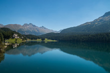 Lago Di Sankt Moritz, Alta Engadina, Canton Grigioni, Svizzera