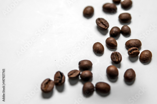 Deurstickers koffiebar Mixture of different kinds of coffee beans. Coffee Background. roasted coffee beans.