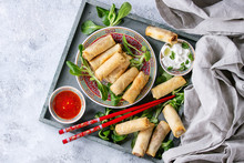 Fried Spring Rolls With Red An...