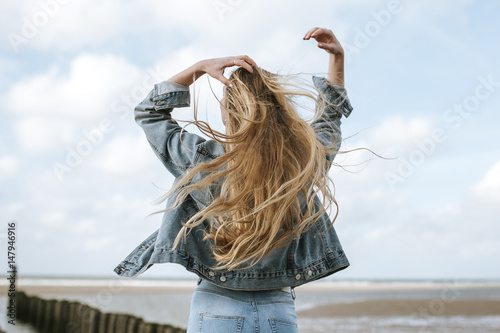 girl from behind with long hair