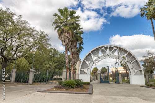 Photo  NEW ORLEANS - FEBRUARY 2016: Armstrong Park on a beautiful day