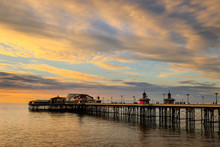Blackpool North Pier At Sunset In Winter