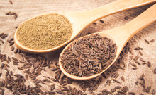 Ground Cumin In A Spoon And Wh...