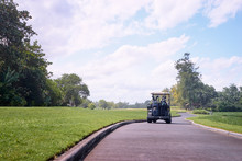 Luxury Lifestyle And Vacation In Golf Club - Beautiful Landscape Of The Playing Field For Golf.