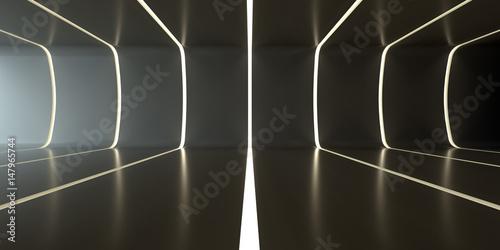 Dark abstract futuristic tunnel
