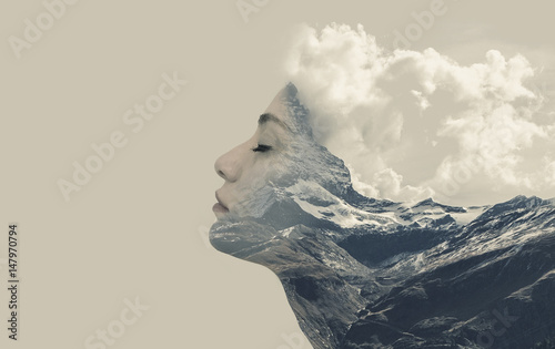 Photographie Double exposure effects for women