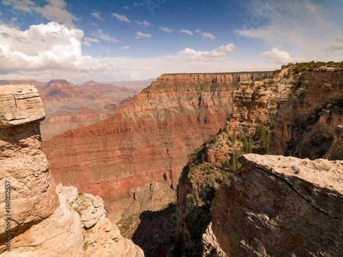 In de dag Canyon Scenic view of Grand Canyon National Park, Arizona, USA
