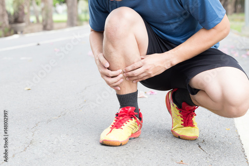 Photo Shin bone injury from running, Splint syndrome
