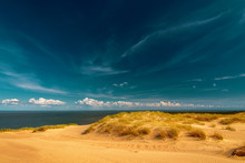 A View Of The Sand Dunes At Nida, Lithuania.