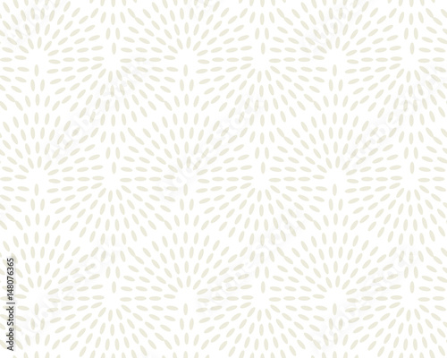 Foto auf AluDibond Boho-Stil Concept simple rice grain pattern on light background. Vector illustration for background, fabric, wrapping paper, print and web with traditional wealth and happiness symbol