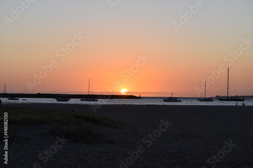 Spoed Foto op Canvas Zee zonsondergang sunset