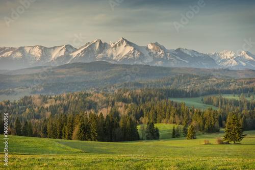 Obraz Krajobraz górski, Tatry, Łapszanka - fototapety do salonu
