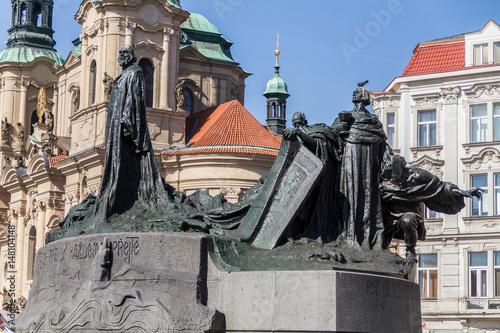 Photo  Monumento nella Piazza della Città Vecchia di Praga
