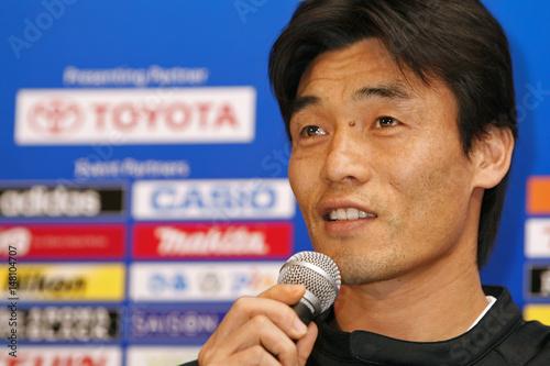 a0bcb3f930d Jeonbuk Hyundai Motors FC s Choi Jin-cheul of South Korea speaks to the  media during