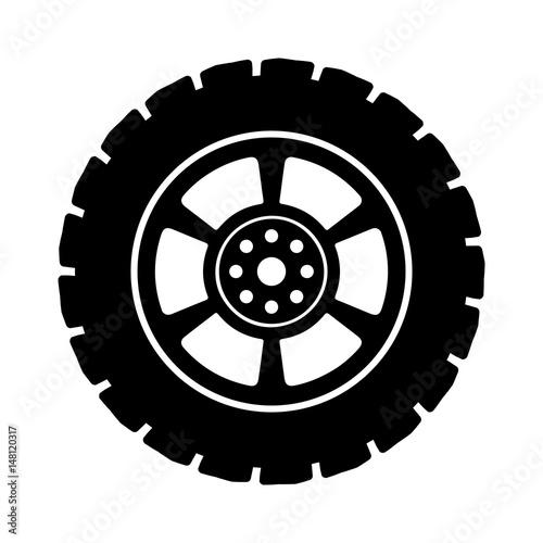 Carta da parati Black auto tire - stock vector