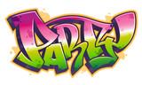 Fototapeta Młodzieżowe - Party word in graffiti style
