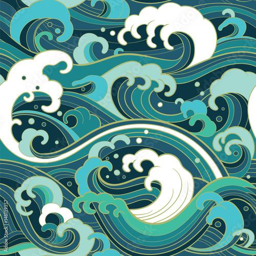 morski-wzor-z-falami-wodnymi